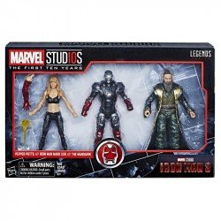Figuras Pepper Pots & Iron Man Mark XXII & The Mandarin Marvel 10th Anniversary