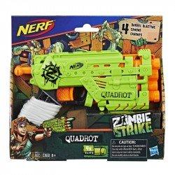 Nerf E2673 Lanzador Quadrot Zombie Strike