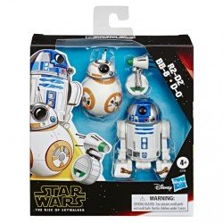 Star Wars The Rise of Skywalker 3 Pack de Droides - R2-D2, BB-8 y D-0