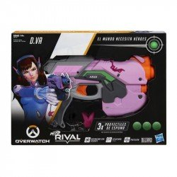 NERF E3122 Lanzador Overwatch D.Va Nerf Rival y 3 recargas Overwatch Nerf Rival Juguete Hasbro