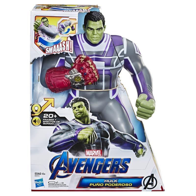 Marvel E3313 Marvel Avengers: Endgame Hulk Puño Poderoso - Figura de acción de 34,5 cm con más de 20 frases y sonidos Juguete Hasbro