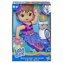 Baby Alive E3691 Baby Alive Mi Linda Sirena Castaña Juguete Hasbro