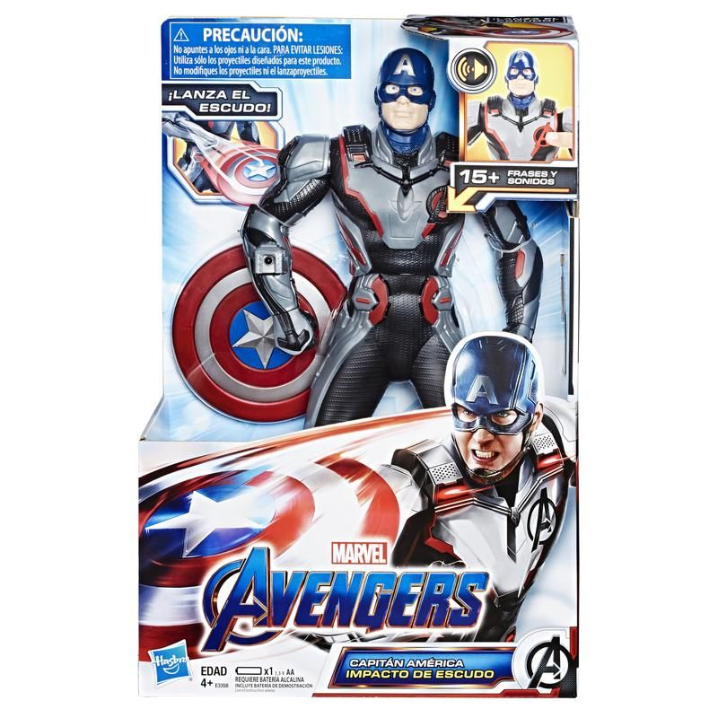 Marvel E3358  Avengers - Avengers: Endgame Capitán América Impacto de escudo  Juguete Hasbro