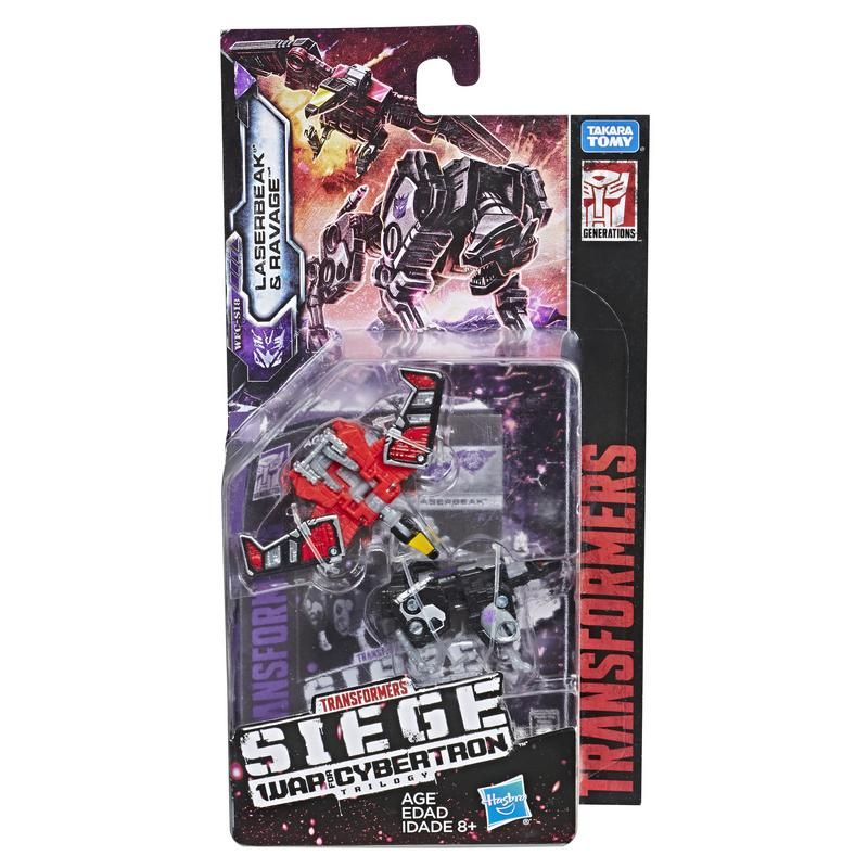 Transformers Generations War for Cybertron Micromaster E3561 2 Pack Laserbeak y Ravage Juguete Hasbro