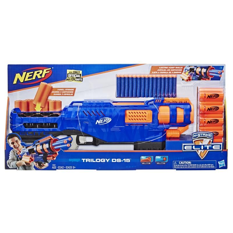 NERF E3821 Nerf Elite Lanzador Barrage DS-15 Juguete Hasbro