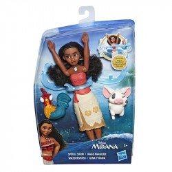Disney Princesas E4028 Muñeca Moana Gira y Nada  Juguete Hasbro