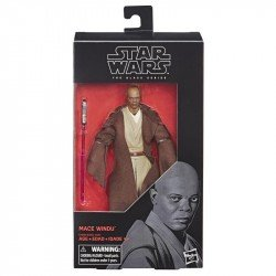 STAR WARS E4088  The Black Series - Figura de Mace Windu de 15 cm Juguete Hasbro