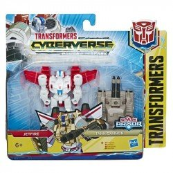 Transformers E4296 Cyberverse Spark Armor - Figura de acción de 10 cm Jetfire Juguete Hasbro