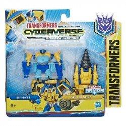 Transformers E4297 Cyberverse Spark Armor - Figura de acción de 10 cm Skybyte Juguete Hasbro