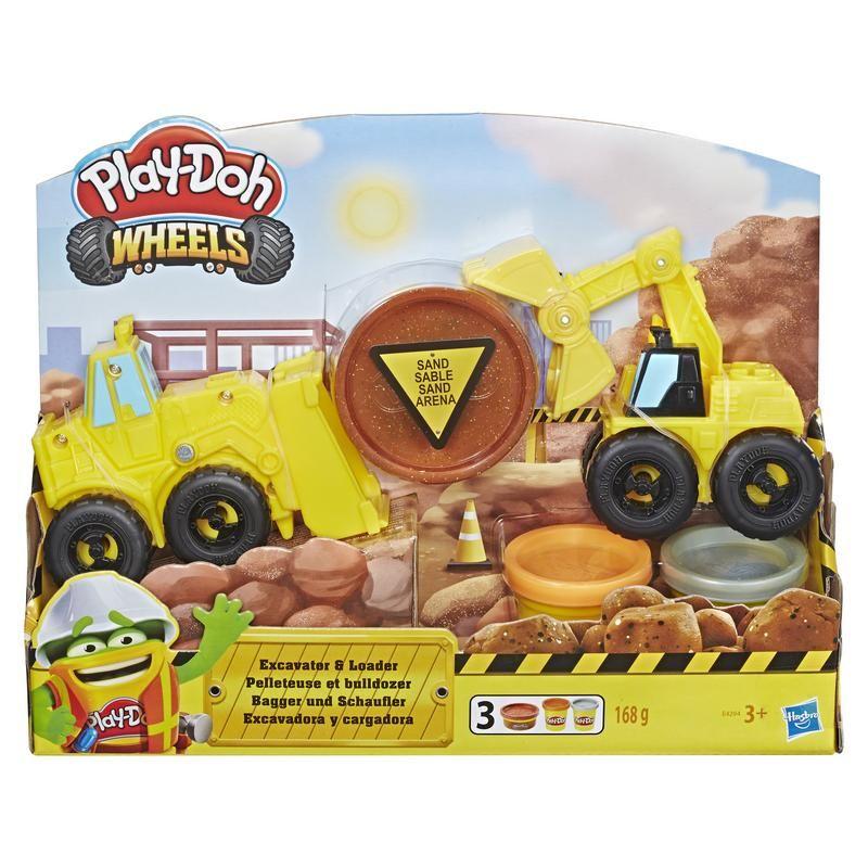 Play-Doh E4294 Vehículos de Construcción Excavadora y Cargadora  Wheels  Juguete Hasbro