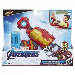 MARVEL  E4394  Avengers Iron Man Lanzador Repulsor con dardos Nerf para disfraz y juego de rol Juguete Hasbro