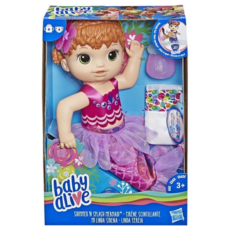 BABY ALIVE E4410 Bebé Mi Linda Sirena Baby Alive, Pelirroja Juguete Hasbro