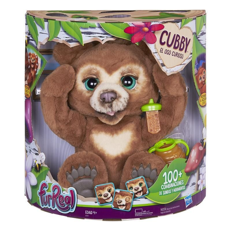 FurReal Friends E4591 FurReal Friends - Cubby El Oso Curioso - Peluche interactivo  Juguete Hasbro