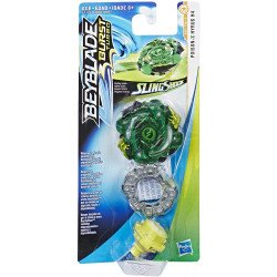 Beyblade E4721 Beyblade Burst Turbo Slingshock Top Individual Juguete Hasbro Poison-X Hyrus H4