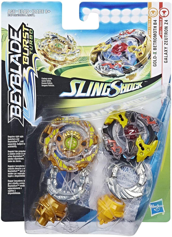 Beyblade E4746 Beyblade Burst Turbo Slingshock Zeutron Z4 y Betromoth B4 Juguete Hasbro