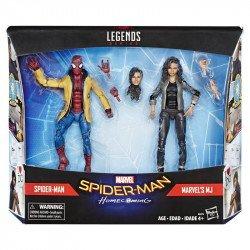 Marvel  E5271 Marvel Legends Spiderman Home-Coming 2 Pack: Spiderman & Mary Jane Juguete Hasbro