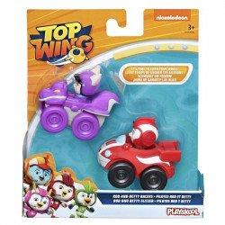 Top Wing E5351 2 Pack Figuras Rod y Betty con Vehículos  Juguete Hasbro Rod y Betty
