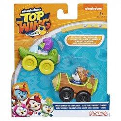 Top Wing E5817 2 Pack Figuras Shirley y Chomps con Vehículos  Juguete Hasbro