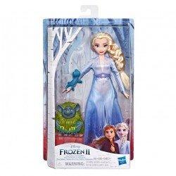 Frozen E6660 Frozen 2 Historias con Amigos. Elsa, Pabble y Salamandra Juguete Hasbro