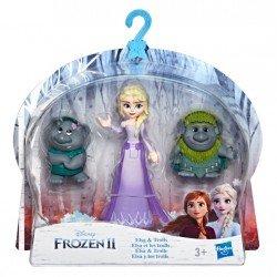 Frozen E7078 Frozen 2 Mini Muñecas con Amigos Elsa y los Trolls Juguete Hasbro