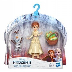 Frozen E7079 Frozen 2 Mini Muñecas con Amigos Anna y Olaf Juguete Hasbro