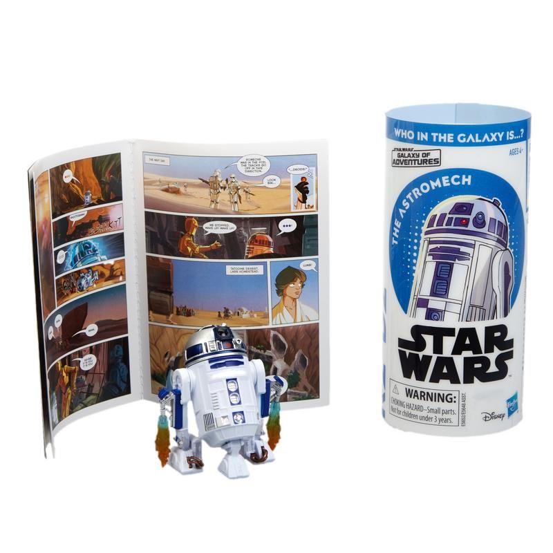 Star Wars E5648 Figura y Minihistorieta  Galaxy of Adventures Assortment Juguete Hasbro