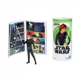 Star Wars E5650 Figura Luke Skywalker y Minihistorieta  Galaxy of Adventures  Juguete Hasbro