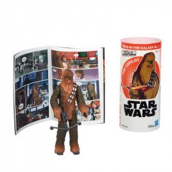 Star Wars E5651 Figura Chewbacca y Minihistorieta  Galaxy of Adventures  Juguete Hasbro