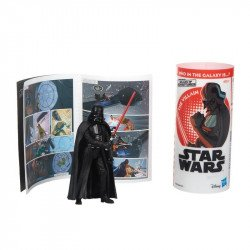Star Wars E5649 Figura Darth Vader y Minihistorieta  Galaxy of Adventures  Juguete Hasbro