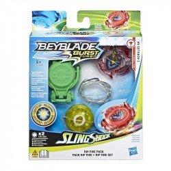 Beyblade E5951 Set de Inicio Beyblade Burst Slingshock Rip Fire - Achilles A4 Juguete Hasbro