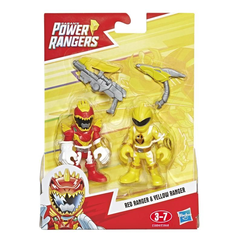 Power Rangers E5885 2 Pack Green Ranger y Ninjor Figuras Power Rangers Playskool  Juguete Hasbro