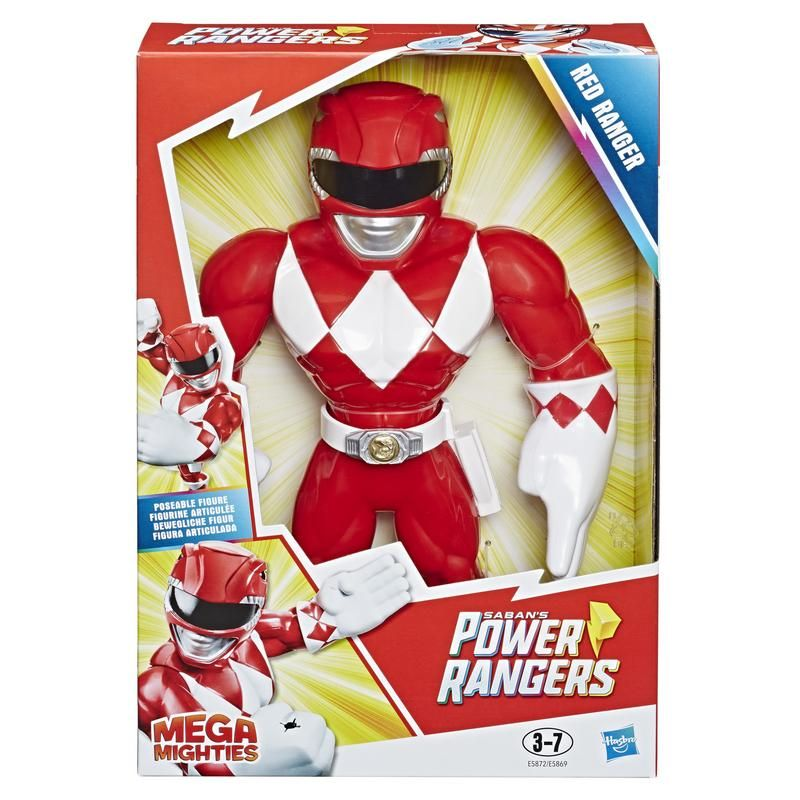 Playskool E5872 Figura Red Ranger Mega Mighties Power Rangers Juguete Hasbro