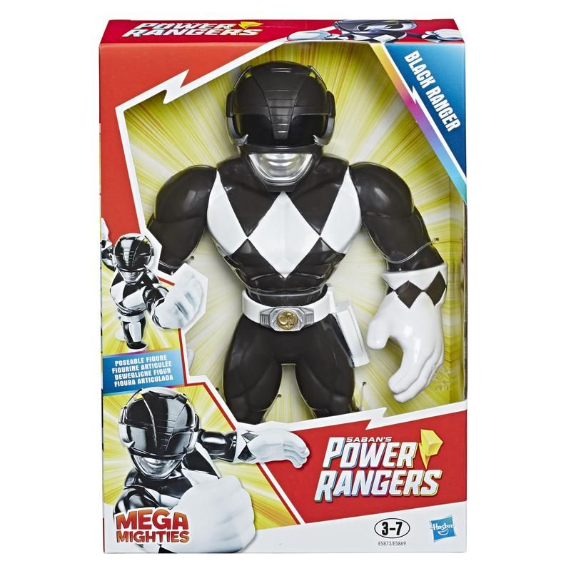 Playskool E5873 Figura Black Ranger Mega Mighties Power Rangers Juguete Hasbro