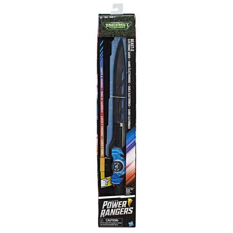 Power Rangers E5896 Power Rangers Beast Morphers Beast-X Sable electrónico