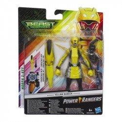 Power Rangers E5943 Figura 6 Yellow Ranger Pulgadas con Accesorios