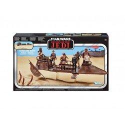 Star Wars E6060 Star Wars La colección Vintage - Jabba's Tatooine Skiff - Vehículo coleccionable inspirado en Star Wars: El regreso del Jedi. Juguete Hasbro