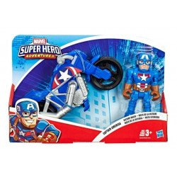 Playskool Heroes Marvel Super Hero Adventures Figura y Motocicleta