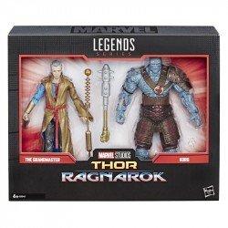 MARVEL E6343 Marvel 80 Aniversario Thor Ragnarok 2 Pack The Grand Master & Korg Juguete Hasbro