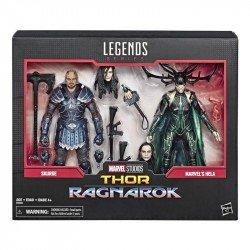 MARVEL E6350 Marvel 80 Aniversario Thor Ragnarok 2 Pack Hela y Skruge Juguete Hasbro