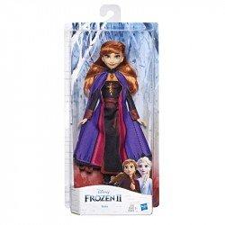 Disney Frozen Anna Muñeca de Moda Clásica Frozen 2 con Cabello Largo Rojo y Atuendo Inspirado en la Película