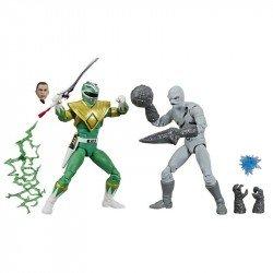 Power Rangers E7028 Power Rangers Lightning Collection Figuras de Acción Ranger Verde contra Mighty Morphin Putty Juguete Hasbro