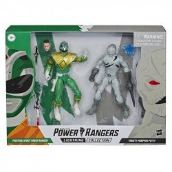 Power Rangers E7028 Power Rangers Lightning Collection Figuras de Acción Ranger Verde contra Mighty Morphin Putty Juguete Hasbro