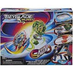 Beyblade Burst Rise - Kit de Batalla Ataque Vertical - Estadio de Beyblade Hypersphere con 2 Tops y 2 lanzadores Beyblade