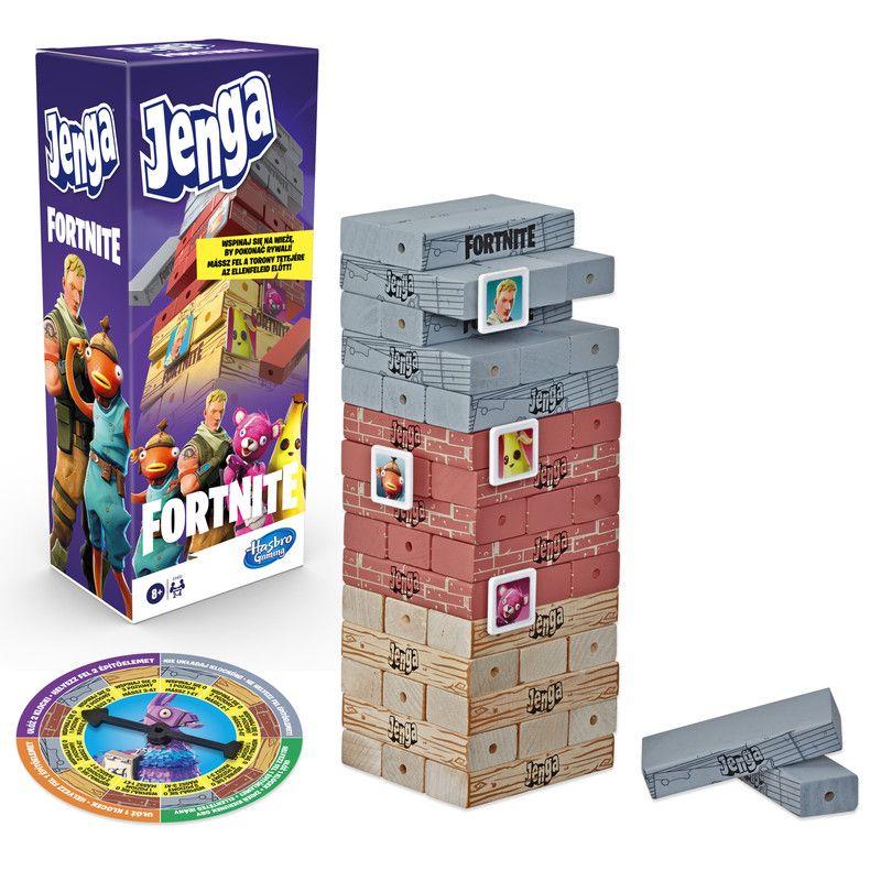 Hasbro Gaming E9480 Hasbro Gaming Juego de Mesa Jenga Fortnite Juguete Hasbro