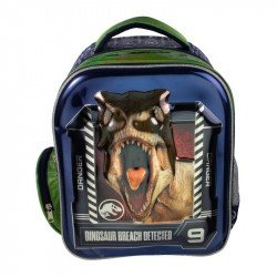 Back Pack 3D Metalico Kinder  Jurassic World