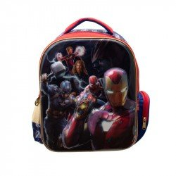 Back Pack 3D Metalico Kinder Niño Marvel Avengers