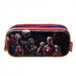 Lapicera Suave Doble 3D Metalico  Niño Marvel Avengers
