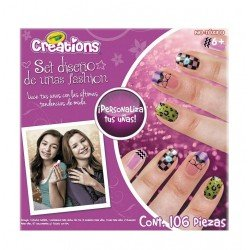 SET DISENO DE UÑAS FASHION  DE CRAYOLA