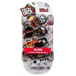 TECH DECK TED 4 PACK PATINETAS