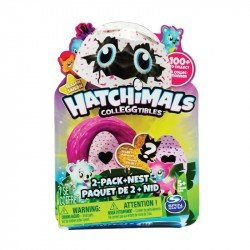 HATCHIMALS COLECCIONABLES 2 FIGURAS NIDO